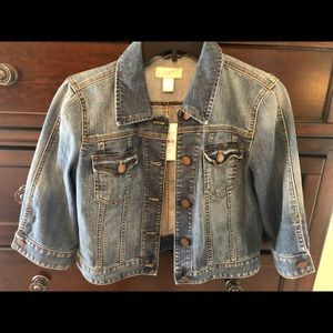 Loft Outlet Cropped Jean Jacket